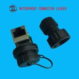 주문을 받아서 만들어진 IP67는 RJ45 회의 연결관을 방수 처리한다