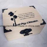 De eenvoudige Verpakking van de Gift van de Pijnboom Houten met Duidelijke Kleur voor de Verpakking van de Thee