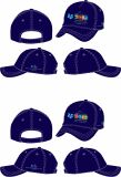 LogoのブラシCotton Baseball Cap