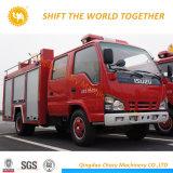 Isuzu 12t水タンカーか泡の普通消防車水消火活動のトラック
