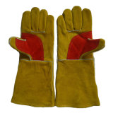 Golden Heavy Duty Leather Protection des mains Gants de soudure