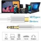 C USB Macho para Macho 3,5mm cabo estéreo de áudio para fone de ouvido de extensão de cabo adaptador para o Google Pixel 2/XL, Moto Z e dispositivos do tipo C