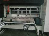 Cartone ondulato della macchina dell'incartonamento della scatola che scanala la stampatrice