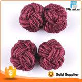 Personalizado de la fábrica de seda haciendo el nudo gemelos