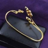 Braccialetto reale R858 della palma di Zircon della donna di modo del rame placcato dell'oro