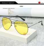 Notte pilota del driver di vetro di vetro UV400 Sun degli occhiali di protezione delle donne degli uomini degli occhiali da sole di visione notturna di aeronautica che guida Eyewear