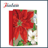 128GSM Glossy Laminated Art Paper Flores de Natal Gift Gift Bag