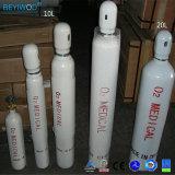 cilindro de oxígeno de acero del gas de 150bar 200bar ISO9809-3 5L 10L 50L