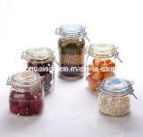 Vaso di vetro dell'ostruzione/vaso di vetro dell'alimento con il coperchio del metallo