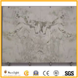 Высокая полированным Bookmath белый камень оникс для фона телевизора на стену/интерьера проектов