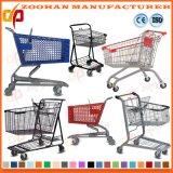 Haltbares Metalleuropäische Art-Supermarkt-Einkaufswagen-Laufkatze (Zht136)