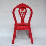 Neues Metallstapelbarer roter Gaststätte-Stuhl des Entwurfs-2018 für Ereignis und Hochzeit Yc-E151