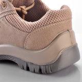 Zapatos de cuero del ante de la vaca de la seguridad con el casquillo de acero L-7111 de la punta