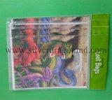 Kundenspezifische gedruckte Einkaufstasche mit gestempelschnittenem Griff