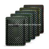 Бумажник держателя визитной карточки PU картины волокна углерода высокого качества кожаный