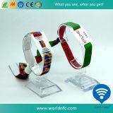 Festival su ordinazione Wristband tessuto Ultralight del fabbricato da 13.56 megahertz