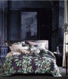 Super macio de algodão egípcio de 3 peças extras impressas Floral Edredão cobrir definir a roupa de cama