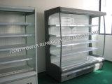 Congelador vertical del caso de visualización del supermercado para el alimento