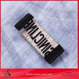 Etiqueta de tecido preto Sinicline de vestuário para homens com o logotipo personalizado