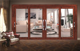 Janela de alumínio Grande Vidro corrediço de projeto para construção de casa