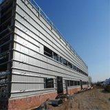 난간 벽을%s 가진 가벼운 구조 강철 건물