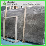 De hoog Opgepoetste Tegels van de Vloer van de Badkamers van de Kwaliteit Zilveren Grijze Marmeren