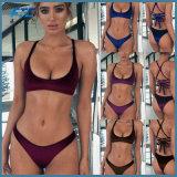 Veludo populares Thong Bikini com Sexy Back
