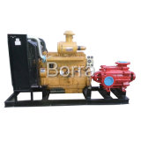 Pompa ad acqua diesel ad alta pressione a più stadi con il rimorchio