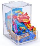 Étalage acrylique clair en gros de crémaillère de sucrerie de partie supérieure du comptoir