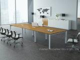 사무용 가구 작은 직사각형 유리제 회의장 유리제 회의 테이블 (HF-LB17)