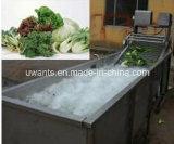 Vehículo y frutas que se lavan y secadora
