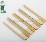 Espeto de bambu Teppo descartável natural com a raquete