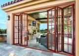Nouveau Guangzhou Appartement Home Bifold intérieur/extérieur de porte utilisée avant de la Chambre Française de verre aluminium Bi le pliage accordéon patio coulissantes Portes et fenêtres d'entrée