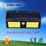 Sigma Lm alimentada a energia solar Alta do Sensor de PIR ESPIGA IP65 4W luz de parede LED de 8 W