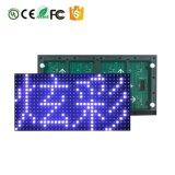 Scheda bianca del modulo P 10 della scheda del visualizzatore del LED/rossa/blu/parola monocromatica Semi-Esterna/di verde schermo
