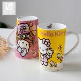 Copo cheio do leite do copo de chá da porcelana da impressão 14oz do decalque