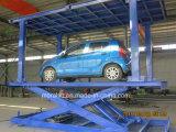 Elevación hidráulica doble del coche de la cubierta 6000kg