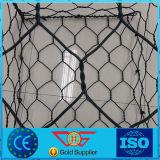 Цвет корзины Gabion стального провода PVC гальванизированный Cotated сплетенный зеленый