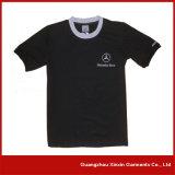 広州(R05)の100綿の丸首の黒のTシャツ