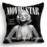 優雅な正方形のAudrey Hepburnデザイン装飾ファブリッククッションW/Filling