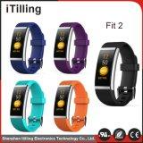 Elegante pulsera, Sports Tracker Fitness Monitor de Frecuencia Cardíaca la calidad del sueño llamada SMS IP67 de recordatorio