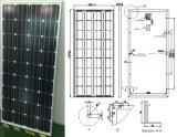 18V 36V 145W 150W 155W 160W Monocrystalline Solar Panel PV Module From ISO Factory