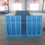 Rampa de jarda de carga ajustável hidráulica manual para recipiente