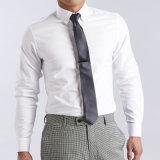 Camicia di vestito degli uomini, cotone 100% o camice di cotone bianco del poliestere 35% di 65%