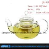 Theestel het van uitstekende kwaliteit van de Fles van het Glas met Handvat en Dekking