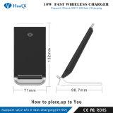 Promoción de la caliente 10W Fast Qi Wireless Mobile/Cell Phone soporte de carga/pad/estación/soporte/cargador para iPhone/Samsung