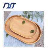 Bandeja de madeira do jantar da elipse Handmade amigável decorativa de Eco