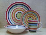 16pcs Hand-Painting grès de la vaisselle (WSY1132S)