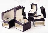 Cadre de bijou de empaquetage de cadeau d'étalage de papier de crocodile