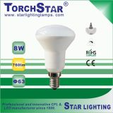 6500k R63 8W LED Punkt-Licht mit 180 Grad-Strahlungswinkel
